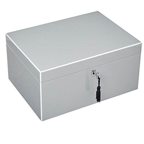 Giftcompany Tang Schmuckbox L mit Schloss flannel/grau 31x15x23 cm