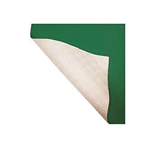 R.P. Mollettone Verde Bianco - Copritavolo Proteggi Tavolo gommato Alt. cm 140 - Cm 140x200