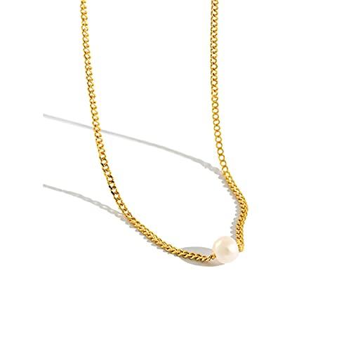 Collar De Gargantilla De Perlas De Cadena De Oro De Plata De Ley 925, Cadena Larga, Joyería De Lujo, Joyas, Collar De Moda Rock Punk