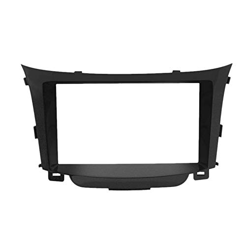 Yuanyuan Double DIN Coche Radio Facia Fascia DVD Panel Plato Estéreo Kit Kit Fit para Hyundai I30 2011 (Color Name : Black)