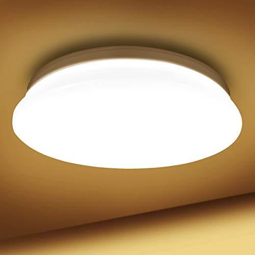 LE 18W Deckenlampe, 3000K LED Deckenleuchte, 1200LM Ø28cm Lampe Ideal für Badezimmer Balkon Flur Küche Wohnzimmer Schlafzimmer, Warmweiß Licht Badezimmerlampe,Rund Leuchte Badleuchte,IP20 Badlampe