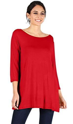 Red Tunic Tops Plus Size Tunic for Women, Womens Plus Size Tops, Plus Size Tunic Tops Red Plus Size Tops Women (Size XXXX-Large, Red)
