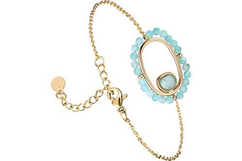 IKITA Primavera Chain Bracelet, Gold-Plated Amazonite