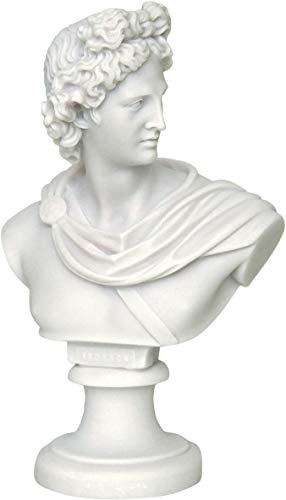 Hecho mano Dios Griego música Apolo/Busto Estatua