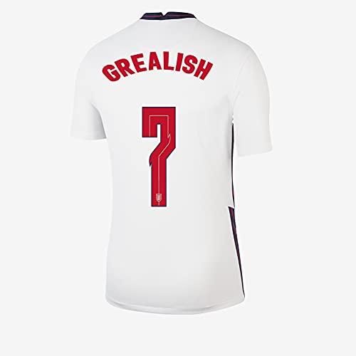 Ayundong 2021 Inglaterra Grealish Camiseta de Futbol de Hogar para Hombre Talla...