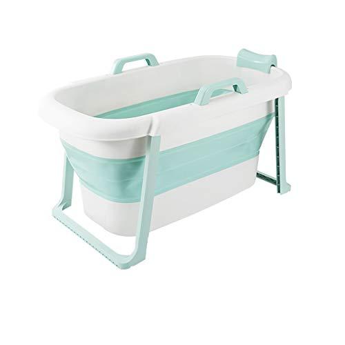 Sdfhh Bathroom Portable Baby Bath Folding Bath Tub,1176560CM Portable Bathtub Household Plastic Spa Bathing Bucket Anti-Slippery Insulation The Best Helper in The Bathroom (Color : Blue)