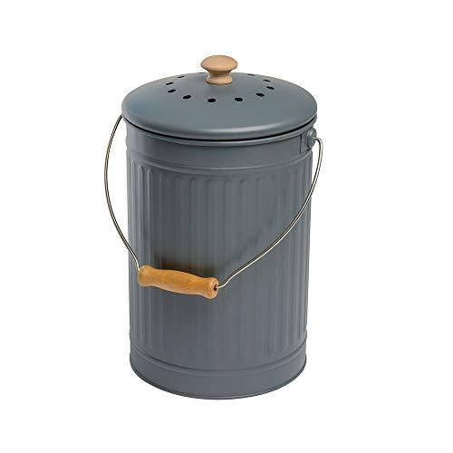 Eddingtons Bac à compost de 7 litres, gris anthracite