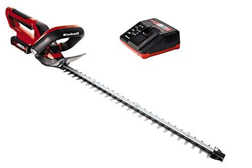 Einhell Expert GE-CH 1855/1 Li Kit - Cortasetos (double blade, 62 cm, ión de litio, 55 cm, 1.8 cm, 2600 g, con batería)