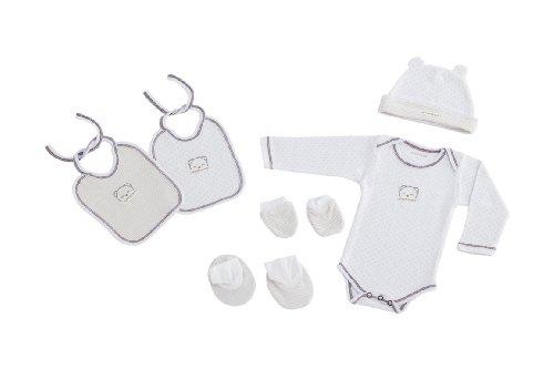 NAF NAF Just Born incluye cuerpo/2 baberos/calcetines/guantes/sombrero (6 piezas, sueños)