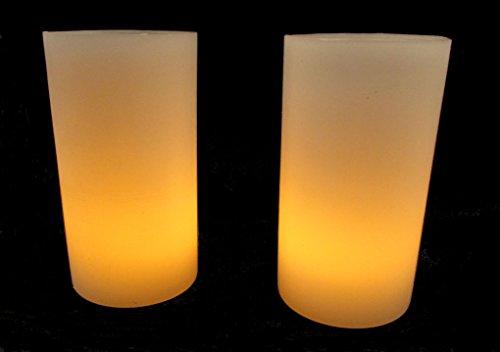 2 Velas De Led + 2 Luminárias 8x15cm De Parafina Decoração