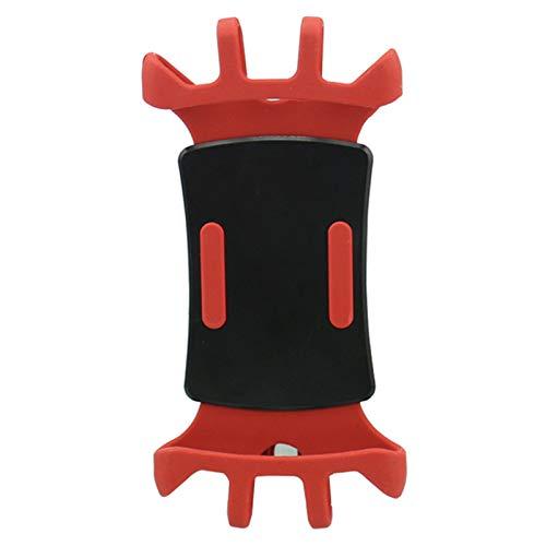 LJFZMD Soporte Motocicleta, Soporte Universal para Teléfono Celular para Motocicleta, Fácil De Instalar O Quitar, Rotación De 360 °, para Teléfonos Inteligentes De 4.5'A 6.7',Rojo