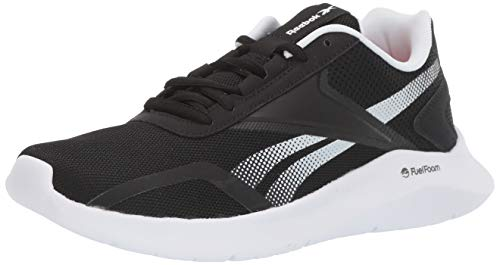 Reebok Women's ENERGYLUX 2.0 Running Shoe, Black/White/Silver, 10.5 M US