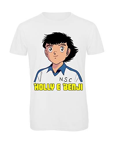 Bughyprint Maglia Maglietta T-Shirt Tshirt Uomo Bambino Holly e Benji, M