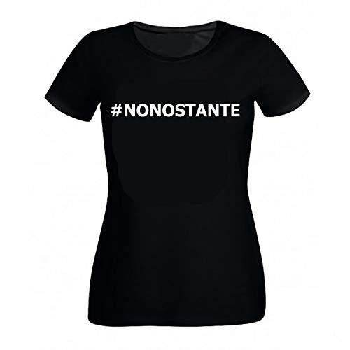 Tshirteria Italiana Maglietta Nonostante Marta Losito Inspired - 100% Cotone Taglie Adulto e Bambini Bianca o Nera (9-11 Anni, Nero)