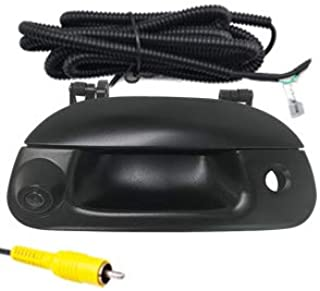 Videosystem Tailgate Replace Rear View Camera Car Backup Tailgate Handle Camera for Ford 1997-2007 F150 F250 F350 F450 F550,Tailgate Door Handle Replacement Camera(Color: Black)