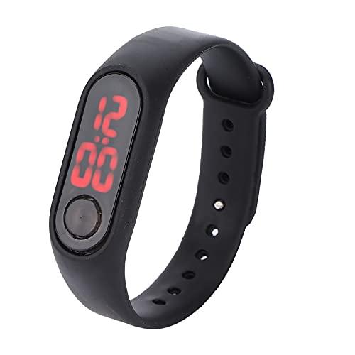 Eosnow Reloj de Pulsera electrónico, confiable, Conveniente, de Alta sensibilidad, cómodo Reloj electrónico Luminoso para Ver el Tiempo(Black)