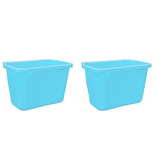 JIAHE115 Automatische vuilnisbak Keuken Vuilnisbak Kast Deuren Ophangen Automatische vuilnisbak Peel Opslag Box2pc,Blue Huishoudelijke decoratieve opbergbak