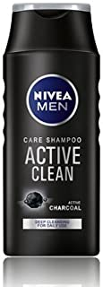 Nivea Men active clean shampoo with charcoal for deap cleansing and daily use 250ml