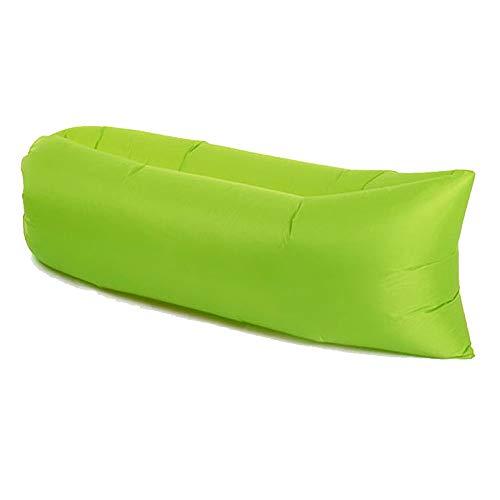 DWHJ Aufblasbare Lehnstuhl, beweglich Luft Sofa Folding Schneller Aerated, Geeignet für Außen Sandy Beach Courtyard Lawn,Grün