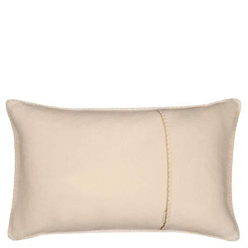 Soft-Fleece-Kissenbezug – Polarfleece mit Häkelstich – weiche, hochwertige Sofa-Kissenhülle –  30x50 cm – 020 cream – von 'zoeppritz since 1828'