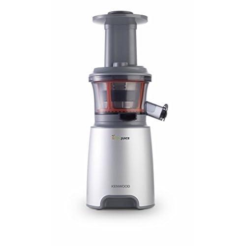 Kenwood JMP601SI PureJuice Estrattore di Succo a Freddo, Centrifuga Slow Juicer con Accessorio Sorbetto, 150 W, 1.3 Litri, Plastica, Argento
