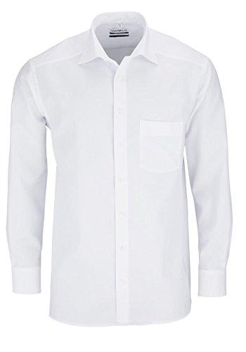 Marvelis Comfort Fit Hemd met Lange mouwen effen Popeline effen katoen - wit, maat: 44