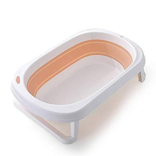 Tragbare Badewanne, zusammenklappbare Babybadewanne, Kinderreisebadewanne Temperaturempfindlicher Wasserstopper