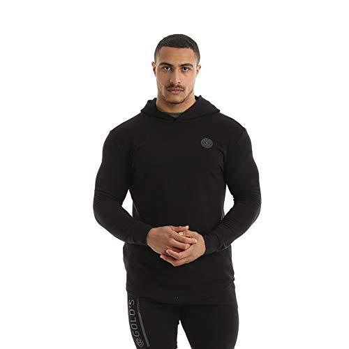 Gold's Gym 2019 Langarm-Kapuzenpullover Herren Fitness Pullover Black XL