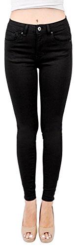 Wax Womens Basic Skinny Jeans Black 11