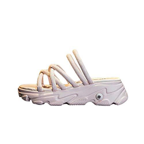 Dos Sandalias Que Usan Mujeres Verano Nuevas Sandalias Deportivas Salvajes Bizcocho De Fondo Grueso Zapatos De Mujer De Estilo Romano De Hadas