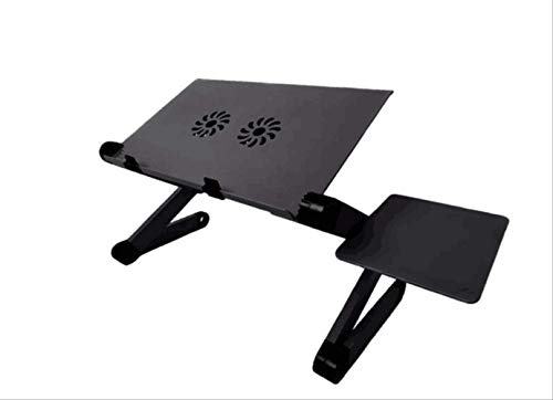 Jackchen Aluminium Laptop Tafelbed Computer Tafel Vouwtafel Met Radiator Ventilator Kleine Tafel