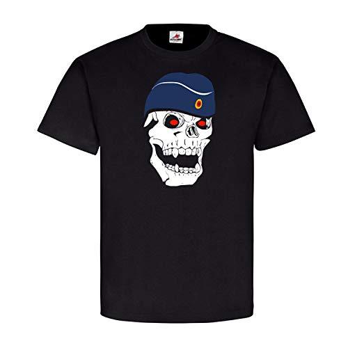 Deutscher Luftwaffensoldat Soldat Luftwaffe Schiffchen Skull - T Shirt #5609, Größe:3XL, Farbe:Schwarz