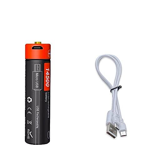 Doublepow DP-USB14500 750mAh 3.7V Batería Recargable de la batería Recargable de la litería USB DC-Cargando de Carga Avanzada Célula Inteligente