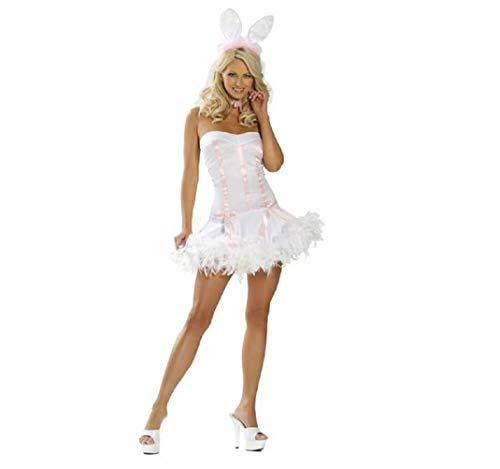 Top Totaal Sexy Klassieke Spelen Jongen Pasen Bunny Rol Speel Kostuum (Een Maat 8-10)