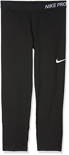 Nike Mädchen Pro Capri 3/4 Trainings-Tights, Black/White, S