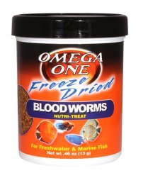 Omega One Freeze Dried Blood Worms.46 oz. by