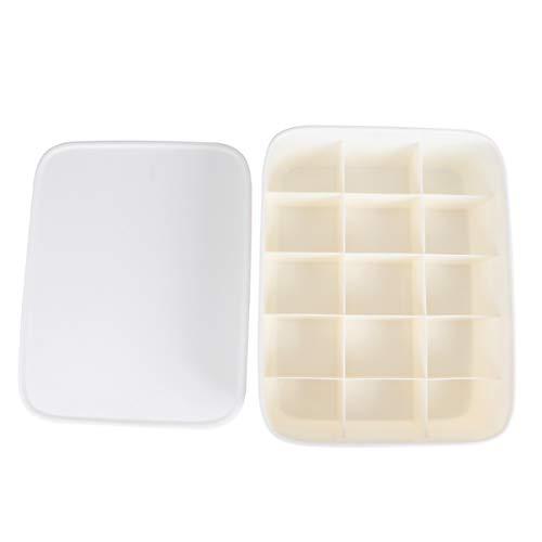 TOPBATHY Plastic Closet Ondergoed Organizer Sokken Lade Divider voor Winkel Riemen Ties Sokken Horloges - Wit Kleur: wit