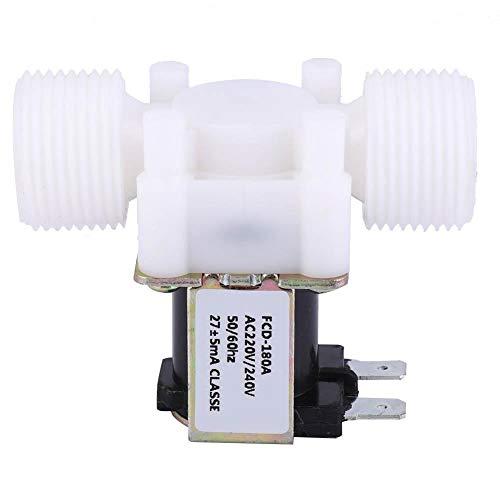 Electroválvula eléctrica unidireccional de plástico G3/4 NC, válvula electromagnética con rosca macho...