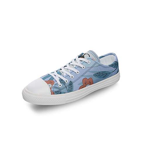 RNGIAN Zapatillas de Deporte de Lona para Mujer, Parte Superior Baja, clásicas, para Entrenar en el Gimnasio, para niños, Color Blanco, Talla 44 EU