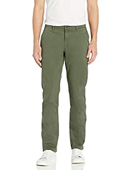 Amazon Brand - Goodthreads Men s Slim-Fit Washed Stretch Chino Pant Olive 34W x 31L