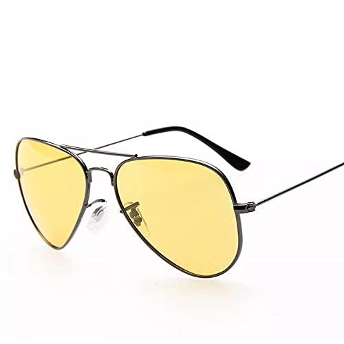 HGFJG Piloto De Visión Nocturna Gafas De Sol Hombres MujeresGafas Gafas Gafas De Sol Gafas De Conducción Nocturna