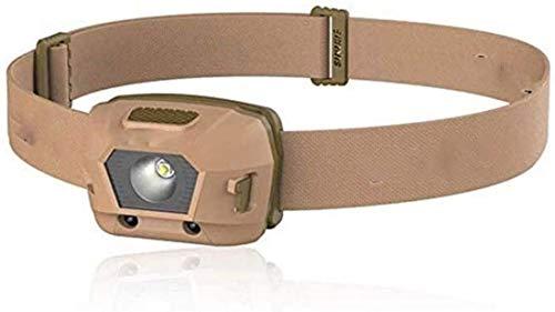 Beirich Linterna frontal recargable USB, interruptor de sensor de movimiento, 4 modos de iluminación, impermeable, ajustable, para pesca, adultos, senderismo, color marrón