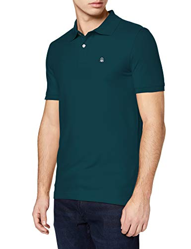 United Colors of Benetton Maglia Polo M/m Camisa, Moss 070, XL para Hombre