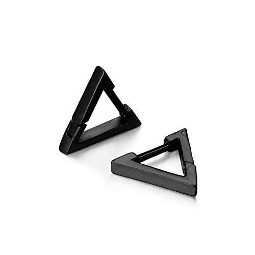 LZZR Pendientes de Acero Inoxidable del Acero Inoxidable del triángulo de Moda Unisex (Color : Triangle Gold)