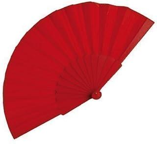 eBuyGB - Ventilador de Mano, Color Rojo, 40 cm