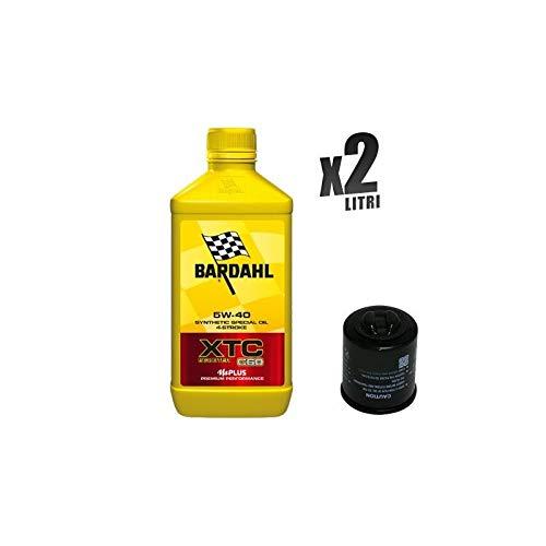 Kit Tagliando moto 2 litri olio Bardahl XTC C60 5W40 + filtro HF183
