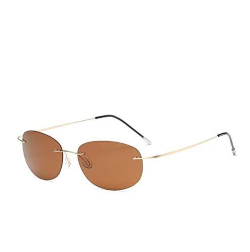 HPPSLT Gafas de Sol Estilo Aviador con Montura Metal, Gafas