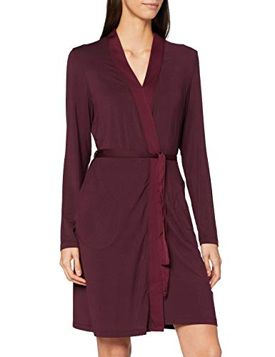 Marc O'Polo Body & Beach Damen Mix W-Robe Bademantel, Burgund, S