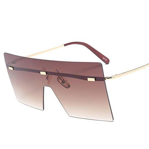 YANKAN Sonnenbrillen Frauen-Metal Rahmen-Quadrat Sonnenbrillen-Anti-UV-Linsen-für die Stadt zu Fuß oder im Freien
