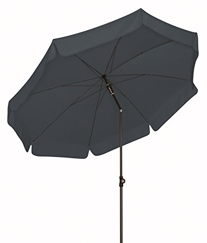 Doppler Absolut wetterfester Gartenschirm Sun Line III 200 UV-Schutz 50 Plus, Farbe anthrazit